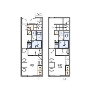 1K Apartment in Kamimaki - Ina-shi Floorplan