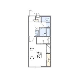 1K Apartment in Kamikitadai - Higashiyamato-shi Floorplan