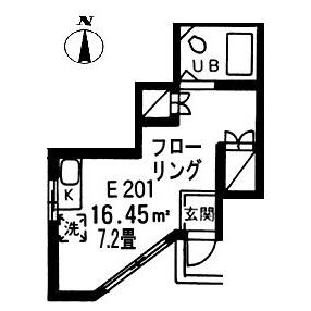1R Apartment in Nogayamachi - Machida-shi Floorplan