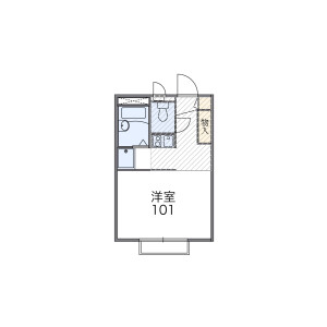 1K Apartment in Kasumigaseki higashi - Kawagoe-shi Floorplan