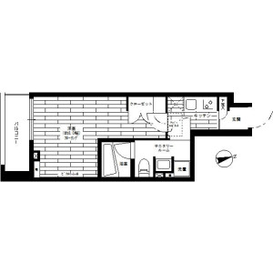 1K Mansion in Tamagawadai - Setagaya-ku Floorplan