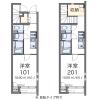 在羽村市内租赁1K 公寓 的 楼层布局