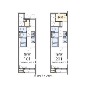 羽村市緑ケ丘-1K公寓 楼层布局