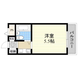 大阪市淀川区宮原-1K公寓大厦 楼层布局