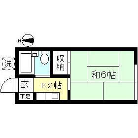 世田谷区 梅丘 1K アパート 間取り