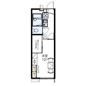 1K Apartment in Kamigamo tsunokunicho - Kyoto-shi Kita-ku Floorplan
