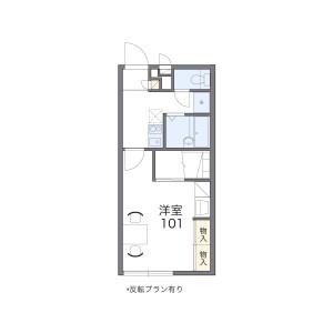 1K Apartment in Nanakuma - Fukuoka-shi Jonan-ku Floorplan