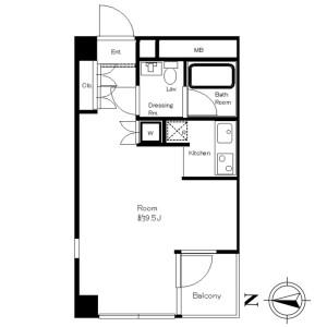 1R Mansion in Irifune - Chuo-ku Floorplan