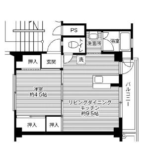1LDK Mansion in Tama - Fuwa-gun Sekigahara-cho Floorplan