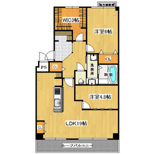 2SLDK Mansion in Kubocho - Nishinomiya-shi Floorplan