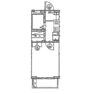 1K Apartment in Kamiyoga - Setagaya-ku Floorplan