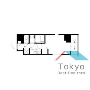 中央區銀座-1K公寓大廈 房間格局