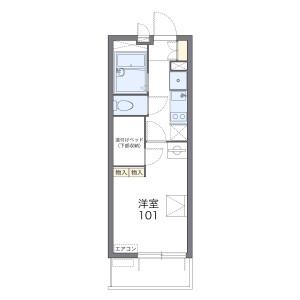 1K Mansion in Hino okanishicho - Kyoto-shi Fushimi-ku Floorplan