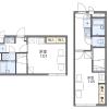 1K Apartment to Rent in Mito-shi Floorplan