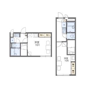 1K Apartment in Bunkyo - Mito-shi Floorplan