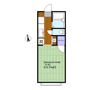 1R Apartment in Tamagawadai - Setagaya-ku Floorplan