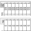1K Apartment to Rent in Toride-shi Layout Drawing