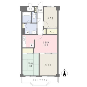 3LDK Mansion in Bessho - Saitama-shi Minami-ku Floorplan