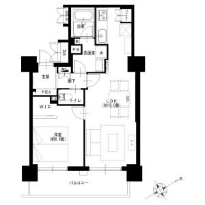 1LDK {building type} in Yamashitacho - Yokohama-shi Naka-ku Floorplan