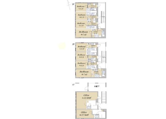 Whole Building Apartment to Buy in Fuchu-shi Floorplan
