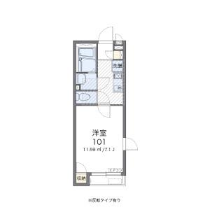 1K 아파트 in Hirano - Adachi-ku Floorplan