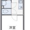 在足立区内租赁1K 公寓 的 楼层布局