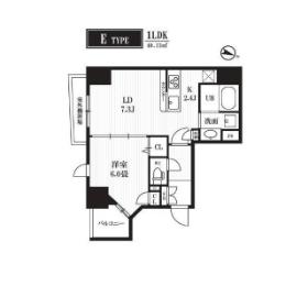 1LDK Mansion in Kandanishifukudacho - Chiyoda-ku Floorplan