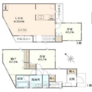 目黒區中根-3LDK{building type} 房間格局