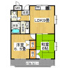2LDK Apartment to Rent in Daito-shi Floorplan