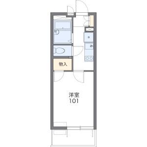 1K Mansion in Hirao - Fukuoka-shi Chuo-ku Floorplan