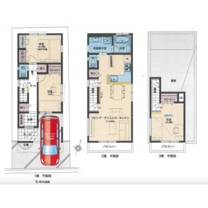3LDK {building type} in Saginomiya - Nakano-ku Floorplan