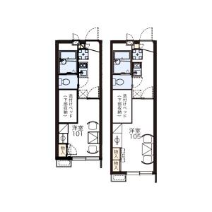 1K Apartment in Kitahamacho - Maizuru-shi Floorplan