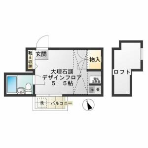 1R Apartment in Meguro - Meguro-ku Floorplan