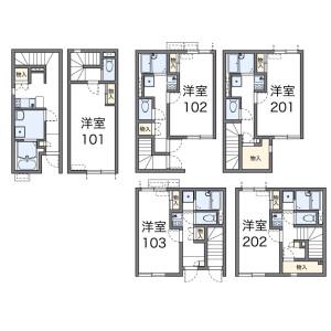 1K Apartment in Shiraitodai - Fuchu-shi Floorplan