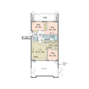 3LDK {building type} in Daizawa - Setagaya-ku Floorplan