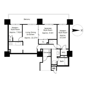 3LDK {building type} in Nionohama - Otsu-shi Floorplan