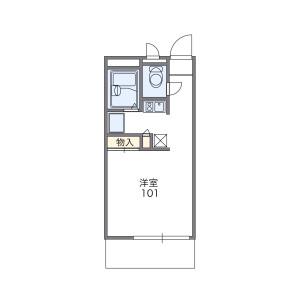 1K Mansion in Akatsukicho - Moriguchi-shi Floorplan