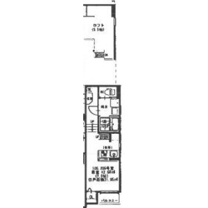 1K Mansion in Ishibashi - Ikeda-shi Floorplan