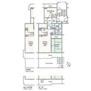 2LDK Mansion in Nobitome - Niiza-shi Floorplan