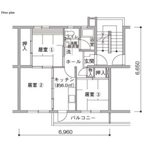 Shared Mansion in Fujimidai - Kunitachi-shi Floorplan