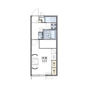 1K Apartment in Yokododai - Chiba-shi Hanamigawa-ku Floorplan