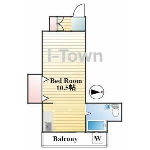 1R Mansion in Honkomagome - Bunkyo-ku Floorplan