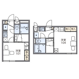 1K Apartment in Kimmeicho - Soka-shi Floorplan