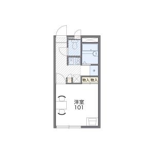 1K Mansion in Takaai - Osaka-shi Higashisumiyoshi-ku Floorplan