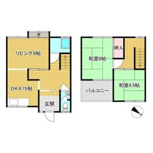 2LDK {building type} in Ohamakitamachi - Sakai-shi Sakai-ku Floorplan