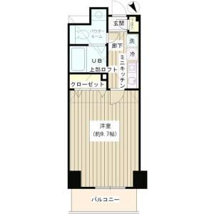 1K Mansion in Minamiikebukuro - Toshima-ku Floorplan