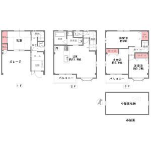 4LDK {building type} in Kishinosato - Osaka-shi Nishinari-ku Floorplan