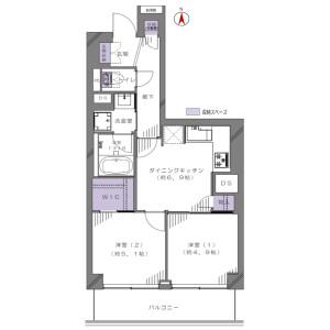 2DK {building type} in Kyonancho - Musashino-shi Floorplan