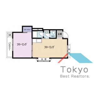 涩谷区神泉町-1LDK公寓大厦 楼层布局