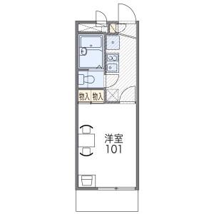 1K Mansion in Fukazucho - Nishinomiya-shi Floorplan